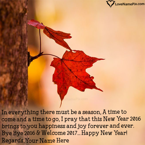 Write Name on Welcome 2017 Quotes Images Picture