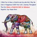Write name on Advance Happy Holi Wishes Wallpaper Picture