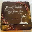 Write name on Beautiful Chocolate Cake For Christmas Picture