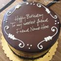 Write name on Best Chocolate Birthday Cake For Friend Picture