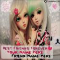 Write name on Best Friends Cute Girls Love Picture