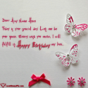 Write name on Birthday Wishes Cards For Lover Picture