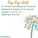 Write name on Bye Bye 2018 Wishes Quotes Picture