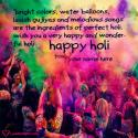 Write name on Colorful Holi Greetings Quotes Picture