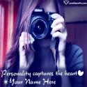 Write name on Cute Girl With Camera FB Profile Picture