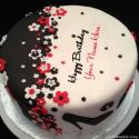 Write name on Elegant Happy Birthday Cake Picture