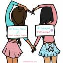 Write name on Friends Forever Girls Love Picture