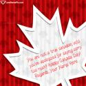 Write name on Funny Canadian Quotes Sayings Picture