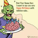 Write name on Funny Happy Birthday Greetings For Friend Picture