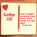 Write name on Goodbye 2018 Thanks For Memories Picture