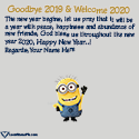 Goodbye 2017 Hello 2018 Cute Wishes Love Name Picture