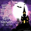 Halloween Haunted House Love Name Picture