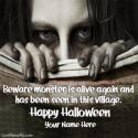 Halloween Zombie Girl Love Name Picture