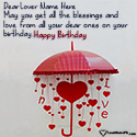 Write name on Happy Birthday Messages For Lover Picture