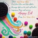 Write name on Happy Eid Wishes Quotes Picture