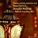 Write name on Happy Fasting Quotes For Ramadan Picture