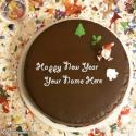 Write name on Happy New Year Cake Designs Picture