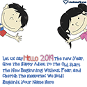 Hello 2018 Greeting Messages Love Name Picture