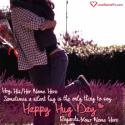 Write name on Hug Day Greetings Messages Picture