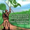Write name on Independence Day Pakistan Quotes Picture