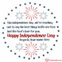 Write name on Independence Day Wishes Quotes Of America Picture