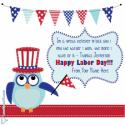 Write name on Labor Day Greeting Card Picture