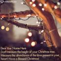 Write name on Merry Christmas Wishes For Cards Picture