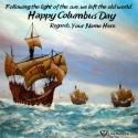 Write name on Printable Columbus Day Ecards Picture