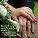 Write name on Romantic Couple Holding Hands Images Picture