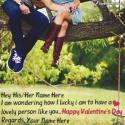 Write name on Romantic Valentines Day Lovers Messages Picture