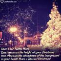 Write name on Short Christmas Wishes Messages Love Picture