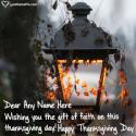 Write name on Thanksgiving Messages For Friends Picture