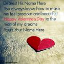 Write name on Valentine Messages For Husband Picture