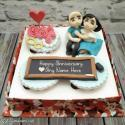 Write name on Write Name To Create Wedding Anniversary Cake Picture