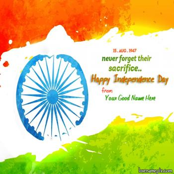 15 August Indian Independence With Name