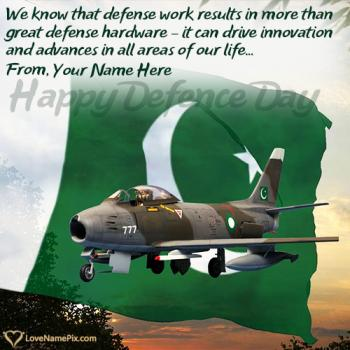 Write name on 6th September Dp For Defence Day images