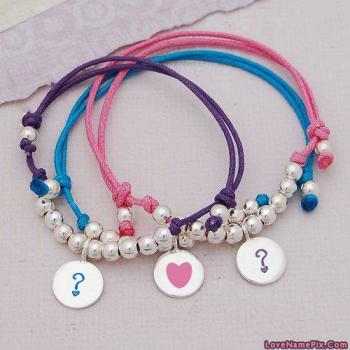 Alphabets On Bracelets Name Picture