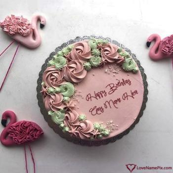 Beautiful Birthday Cake For Daughter With Name