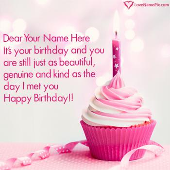 Beautiful Birthday Cupcake Designs Name Picture