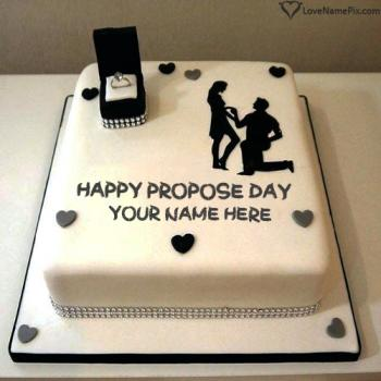 Beautiful Design Love Proposal Cake With Name