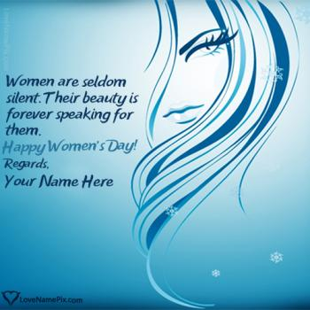 Beautiful Womens Day Quotes Wallpaper With Name