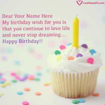 Best Birthday Wishes Cupcake Ideas Name Picture