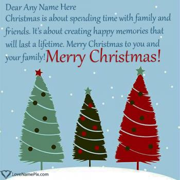 Write name on Best Christmas Wishes For Friends Maker images