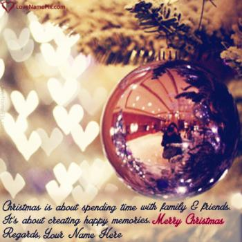 Write name on Best Christmas Wishes Sayings images