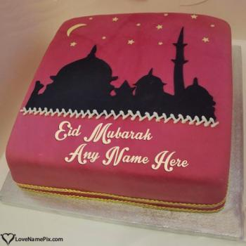 Best Eid Wish Cake With Name