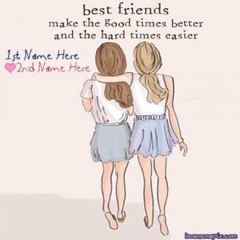 Write friend name on Best Friendship Quotes images