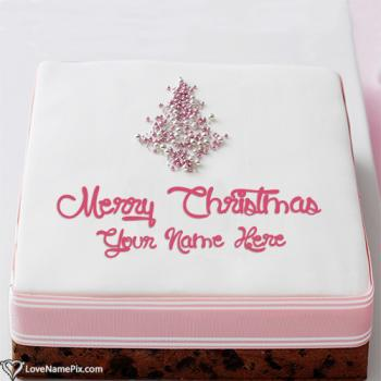 Best Merry Christmas Wishes Cake With Name