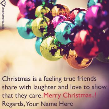 Write name on Best Merry Christmas Wishes Text images