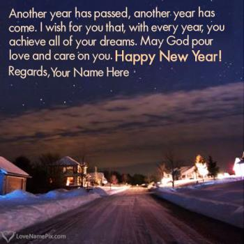 Write name on Best New Year Eve Wishes Messages images