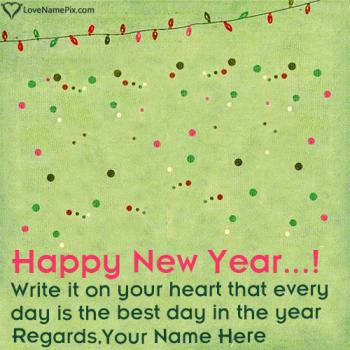 Write name on Best New Year Resolutions images